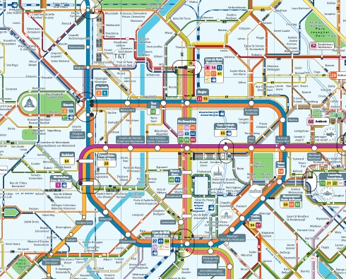 Metro map Brussels Guide